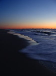 dark sunrise beach Chincoteague, Virginia