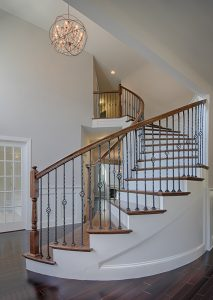 sweeping circling staircase