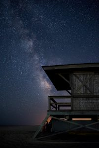 lifeguard stand stars night sky milkyway